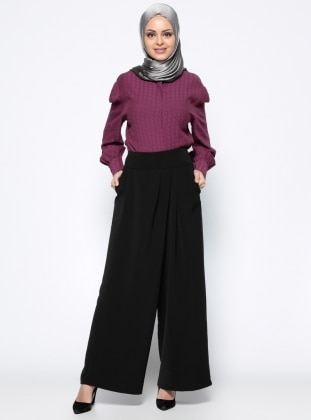 Pantolon Etek - Siyah Appleline