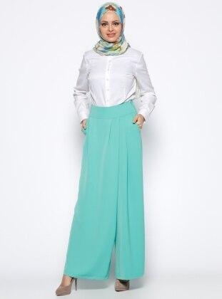 Pantolon Etek - Yeşil Appleline
