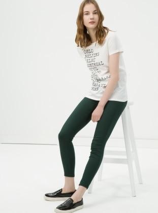 Tayt Pantolon - Yeşil Koton