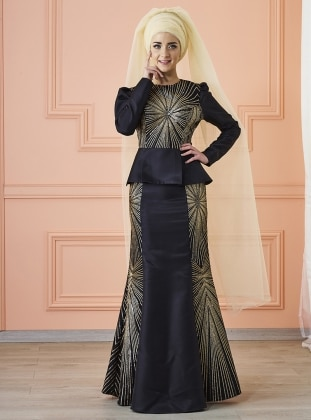 Günaşk Abiye Elbise - Siyah