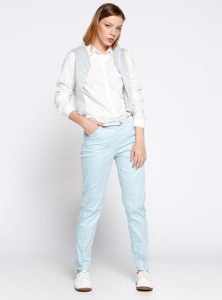 Klasik Pantolon - Mavi
