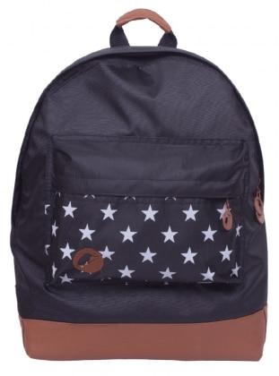 Yıldız Desenli Casual Sırt Çantası - Siyah