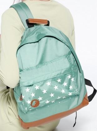 Yıldız Desenli Casual Sırt Çantası - Yeşil