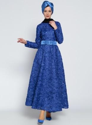 Fiyonk Detaylı Abiye Elbise - Saks