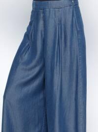 Navy Blue - Denim - Culottes