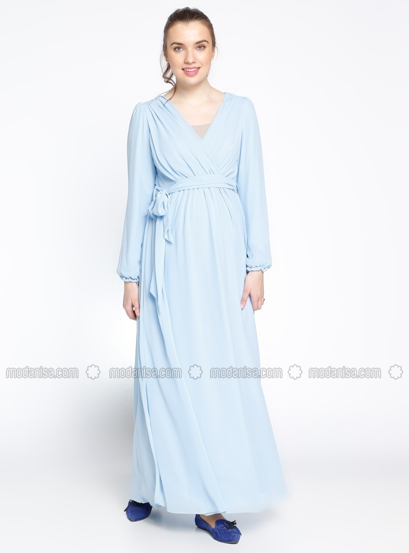 Neck collar blue fully lined maternity dress gr sin v neck collar blue fully lined maternity dress gr sin ombrellifo Choice Image