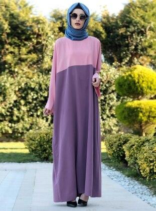 Ferace Elbise - Pudra Gül Kurusu