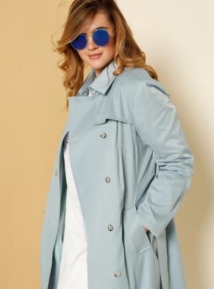 Trençkot - Mavi
