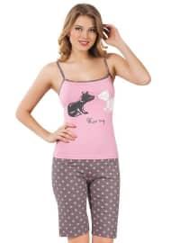 Pink - Gray - Polka Dot - Pyjama