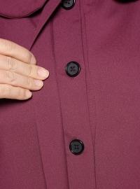 Purple - Unlined - Round Collar - Topcoat
