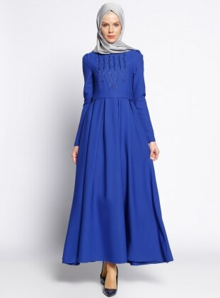 İnci Detaylı Elbise - Saks