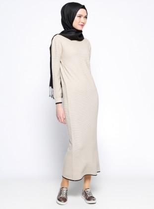 Mevsimlik Elbise- Bej