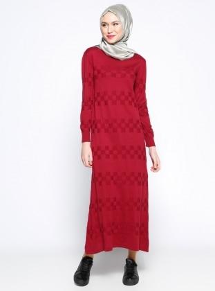 Zentoni Mevsimlik Elbise - Bordo