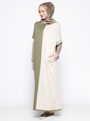 Mevsimlik Elbise- Haki
