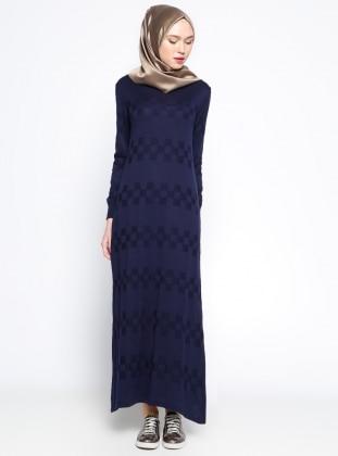 Mevsimlik Elbise- Lacivert