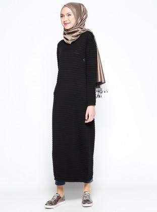 Mevsimlik Elbise- Siyah