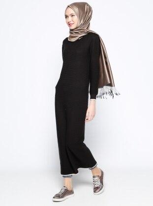 Mevsimlik Elbise - Siyah