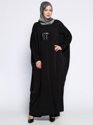 Payetli Ferace - Siyah