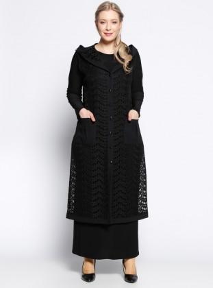 Yelek&Elbise İkili Takım - Siyah - he&de