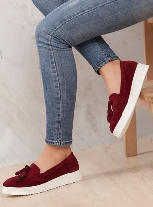 Ayakkabı - Bordo Ayakkabı Havuzu