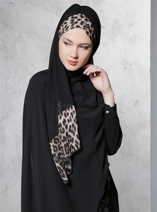 Black - Plain - Pinless - Shawl - DIFFERENZA
