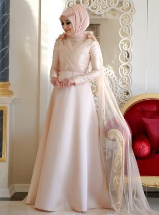 Elegance Abiye Elbise - Somon