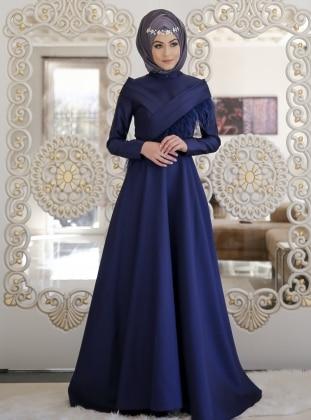 Otriş Abiye Elbise - Lacivert