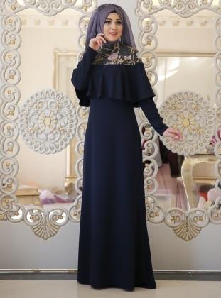 Rezya Abiye Elbise - Lacivert