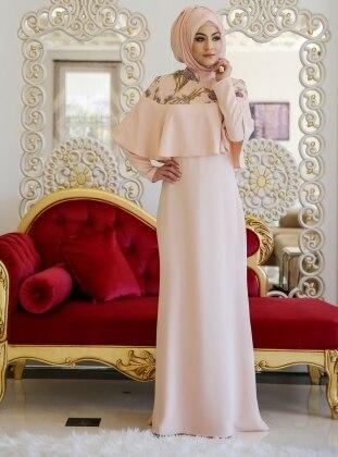 Rezya Abiye Elbise - Somon