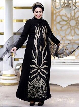 Sultan Abiye Elbise - Siyah