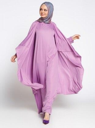 Ayşen Özen Candy Elbise Kap Takım - Lila