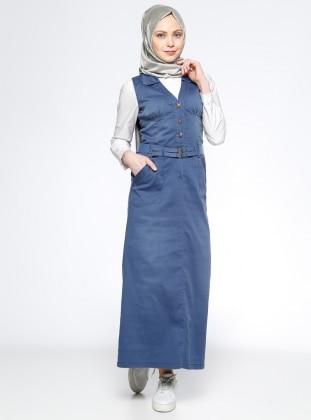 Timin Kolsuz Kot Elbise - Mavi