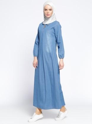 V Neck Denim Dress