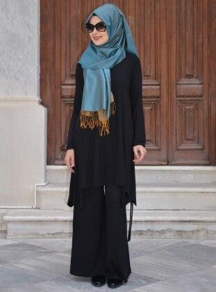 Ferah Tunik&Pantolon İkili Takım - Siyah