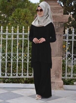 Henna Elisa Salaş Pantolon - Siyah
