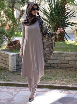 Şems Tunik - Vizon Henna Elisa