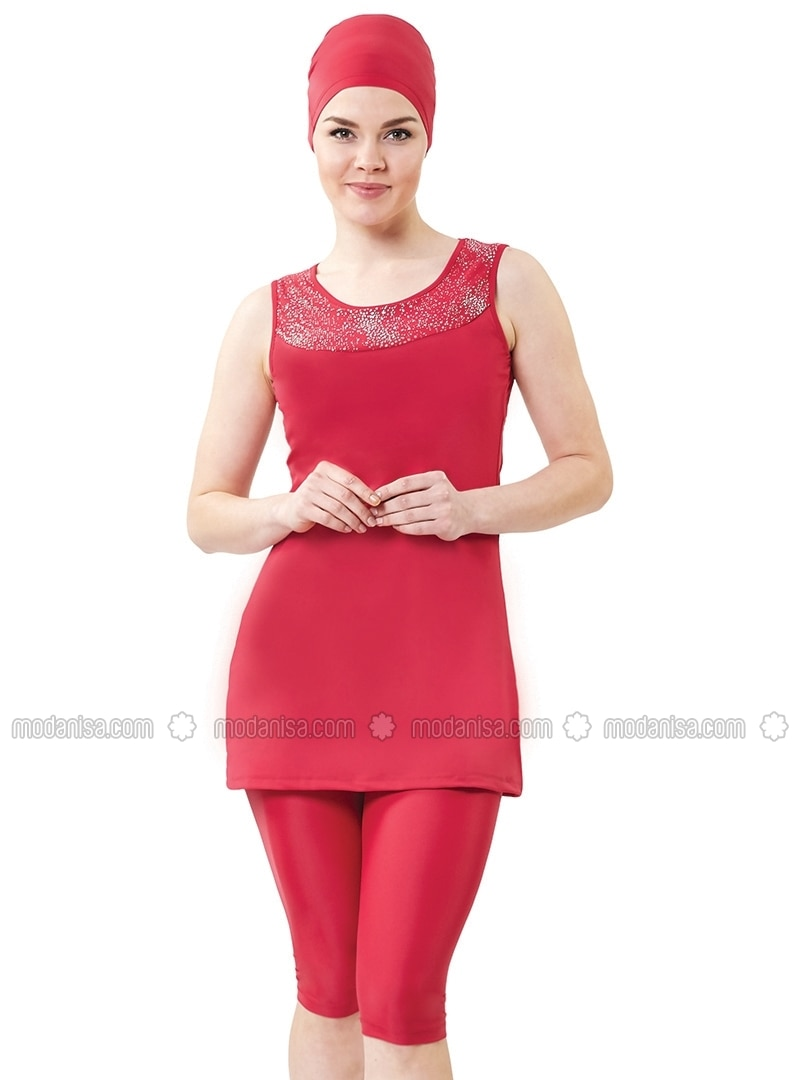 Fully Lined - Maroon - Half Covered Switsuits
