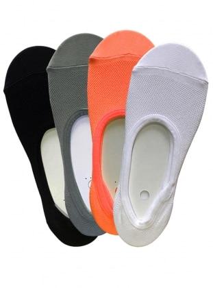 4`lü Paket Kadın Babet Çorap
