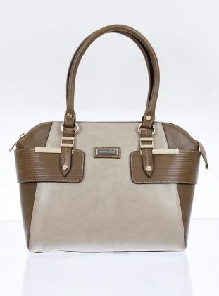 Çanta - Bej Vizon
