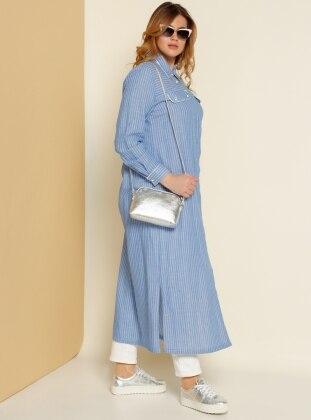Gömlek Elbise - Mavi