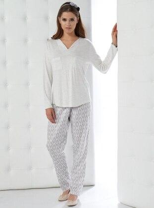 Pijama Takımı - Ekru