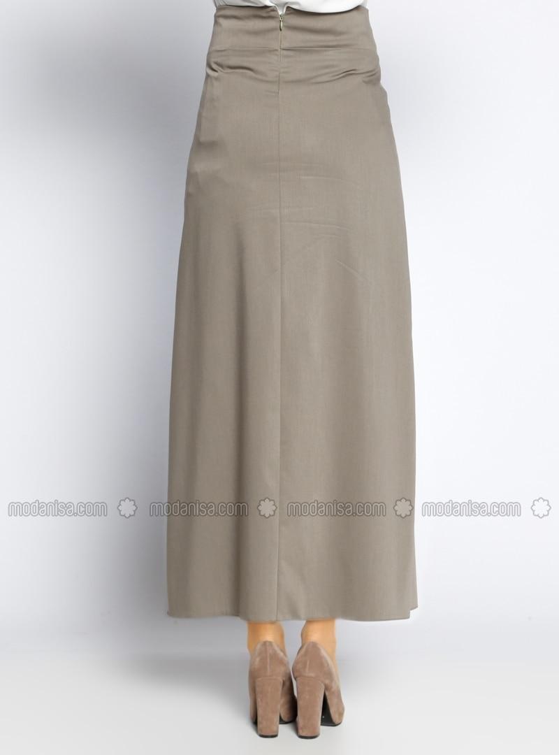 khaki fully lined skirt veteks line