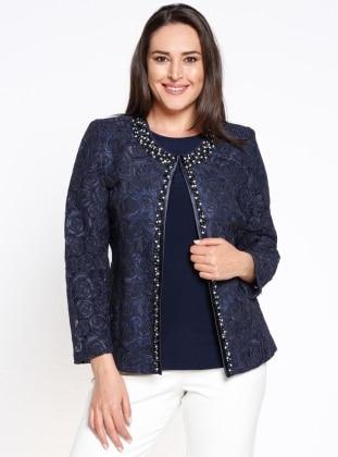 Bluz&Ceket İkili Takım - Lacivert Arıkan