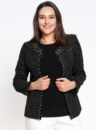 Arıkan Bluz&Ceket İkili Takım - Siyah