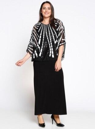 Bluz&Elbise İkili Abiye Takım - Siyah