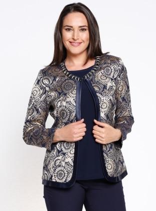 Ceket&Bluz İkili Takım - Lacivert