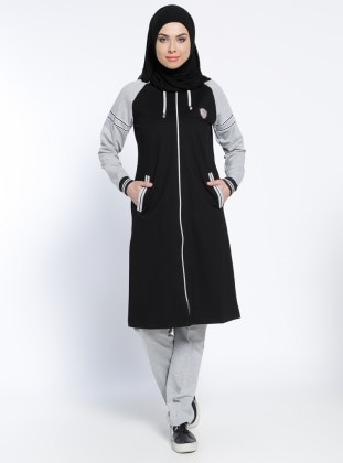 Black - Gray - Tracksuit Set