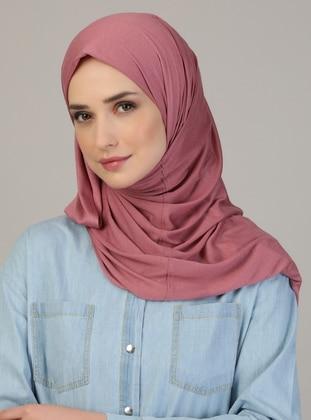 Pink - Plain - Pinless - Viscose - Combed Cotton - Shawl