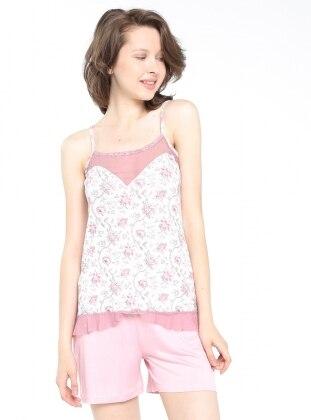 Şortlu Pijama Takım - Pembe