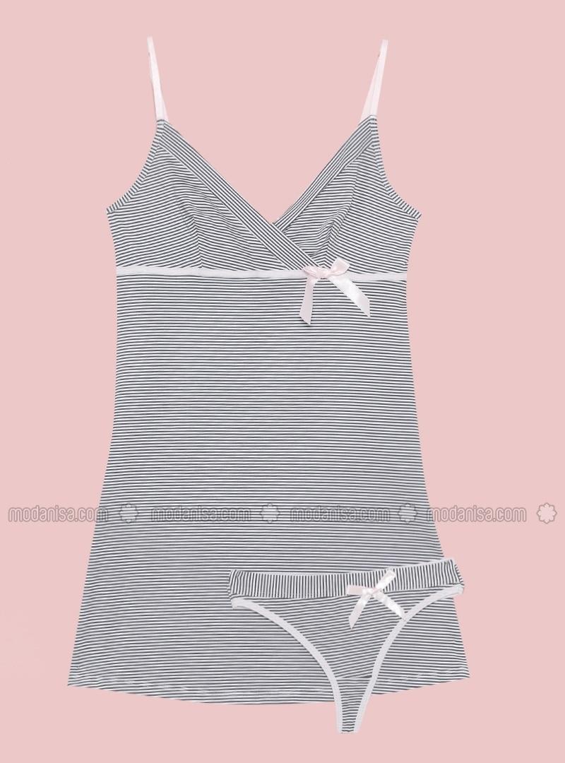 Gray - Multi - V neck Collar - Gray - Multi - V neck Collar - Gray - Multi - V neck Collar - Gray - Multi - V neck Collar - Gray - Multi - V neck Collar - Pyjama